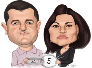 Caricatura color digital la 2 persoane, A3