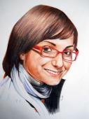 Portret bust <b>1</b> persoana, color, , A4